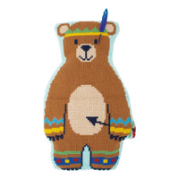Indian Bear Chunky Cross Stitch Cushion Kit By Vervaco