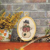 Dapper Snowman Cross Stitch Kit by Janlynn