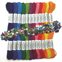 Zenbroidery Rainbow Trim Pack Conton Fabric by Design Works