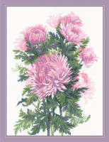 Bouquet of Chrysanthemums Cross Stitch Kit By Riolis