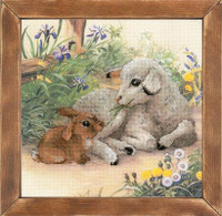 Lamb and Rabbit Cross Stitch Kit By Riolis