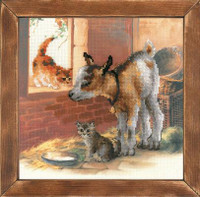 Goat and Kittens Cross Stitch Kit By Riolis