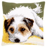 Laying Dog Chunky Cross Stitch Kit By Vervaco