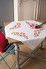Geraniums Tablecloth Cross Stitch Kit By Vervaco