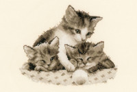 Three Little Kittens Cross Stitch Kit By Vervaco