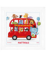 Funny Bus Cross Stitch Kit By Vervaco