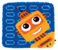Funny Robots Latch Hook Rug Kit By Vervaco