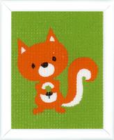 Squirrel Childrens Starter Cross Stitch Kit By Vervaco