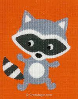 Raccoon Childrens Starter Cross Stitch Kit By Vervaco