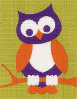Owl Childrens Starter Cross Stitch Kit By Vervaco