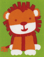 Lion Childrens Starter Cross Stitch Kit By Vervaco