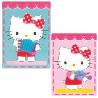 Kitty Playing Music (set of 2) Embroidery card for children 3+ By Vervaco