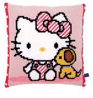 Hello Kitty With Dog Chunky Cross Stitch Kit By Vervaco