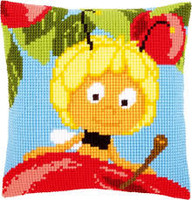 Maya on top of Apple Chunky Cross Stitch Kit By Vervaco