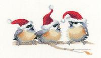 Festive Chicks Cross Stitch Kit By Heritage