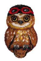 Ari the Owl Latch Hook Rug  By Grafitec