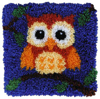 Baby Owl Latch Hook Rug  By Grafitec