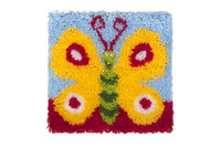 Pretty Butterfly Latch Hook Rug  By Grafitec