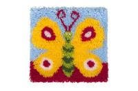 Pretty Butterfly Latch Hook Rug  By Grafitec