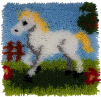 Pretty Pony Latch Hook Rug  By Grafitec