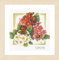 Spring Cross Stitch Kit By Lanarte