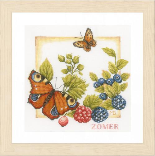 Summer Cross Stitch Kit By Lanarte