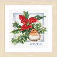 Winter Cross Stitch Kit By Lanarte