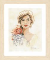 Romantic Lady Cross Stitch Kit By Lanarte