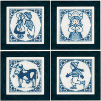 Delft Blue Set Cross Stitch Kit By Lanarte