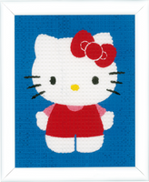 Tapestry Kit: Hello Kitty on Blue Background By Vervaco