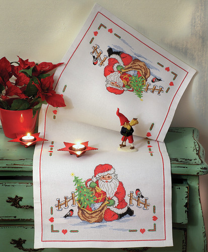Santa Claus Runner Cross Stitch Kit By Anchor