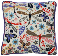 Dragonflies Tapestry Cushion Kit By Bothy Threads