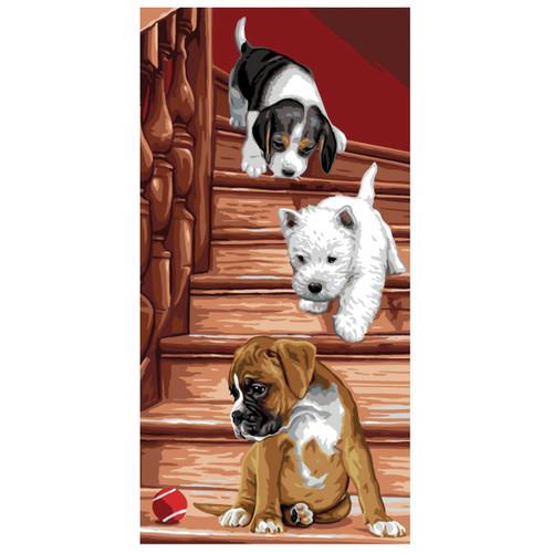 Puppy Canvas By Royal Paris