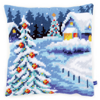 Winter Scenery Chunky Cross Stitch Cushion Kit By Vervaco