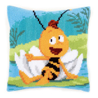 Willy & Waterlily Chunky Cross Stitch Cushion By Vervaco