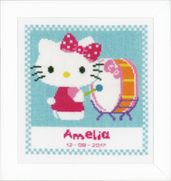 Counted Cross Stitch: Birth Record: Hello Kitty Makes Music By Vervaco