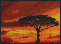 Savannah Sunset counted cross stitch By DMC