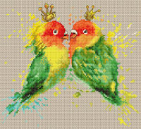 The Parrots  Cross Stitch Kit By Luca S