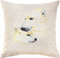 Polar Bears Pillow  Cross Stitch Kit By Luca S