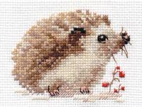 Hedgehog Cross Stitch Kit by Alisa