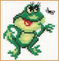 Frog Cross Stitch Kit by Alisa