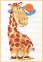 Giraffe Cross Stitch Kit by Alisa
