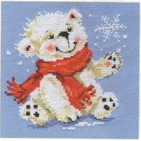 White Bear Cross Stitch Kit by Alisa