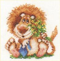 Lion Cross Stitch Kit by Alisa