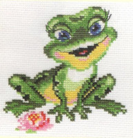 Beautiful Frog Cross Stitch Kit by Alisa