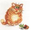 Mischievous cat Cross Stitch Kit by Alisa