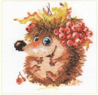 Autumn Hedgehog Cross Stitch Kit by Alisa