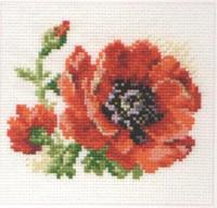 Poppy Cross Stitch Kit by Alisa
