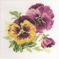 Pansies Cross Stitch Kit by Alisa