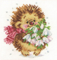 Spring Hedgehog Cross Stitch Kit by Alisa